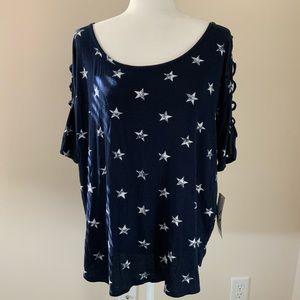 🧡3 for $25 🧡 NY&CO navy star shirt NWT